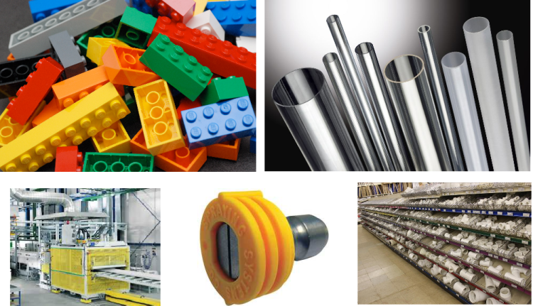 Legos, Plastic extrusions, molding facility, PVC tubings and tubes